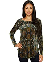 Karen Kane - Velvet Shirttail Top