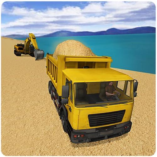 Carro transportador de la arena de río