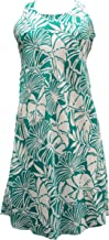 product image for Paradise Found Womens Pareau Leaves Short Tank Dress Turquoise L