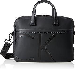 Calvin Klein - Raised Logo Laptop Bag Slim, Bolsas para portátil Hombre, Negro (Black), 8x27x38 cm (B x H T)
