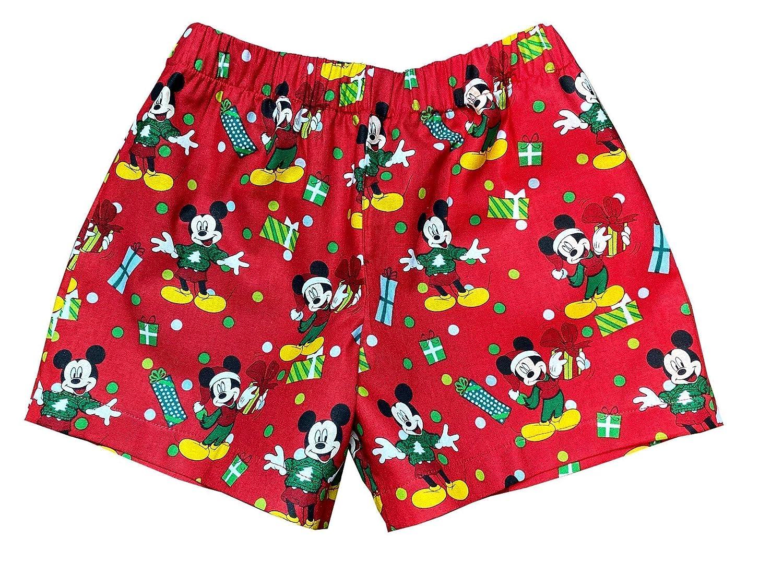 Disney Mickey Mouse Little Boys Toddler Christmas Pajama Shorts, Toddler Sleep Shorts for Boys, Boys 4t Shorts