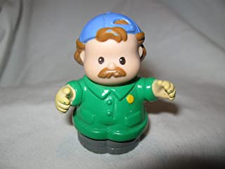 Fisher Price Little People Mechanic Jack GREEN JUMPSUIT Car Wash Garage Tow Truck Driver Dad OOP 1997