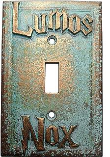 Lumos/Nox Light Switch Cover (Custom) (Aged Patina)