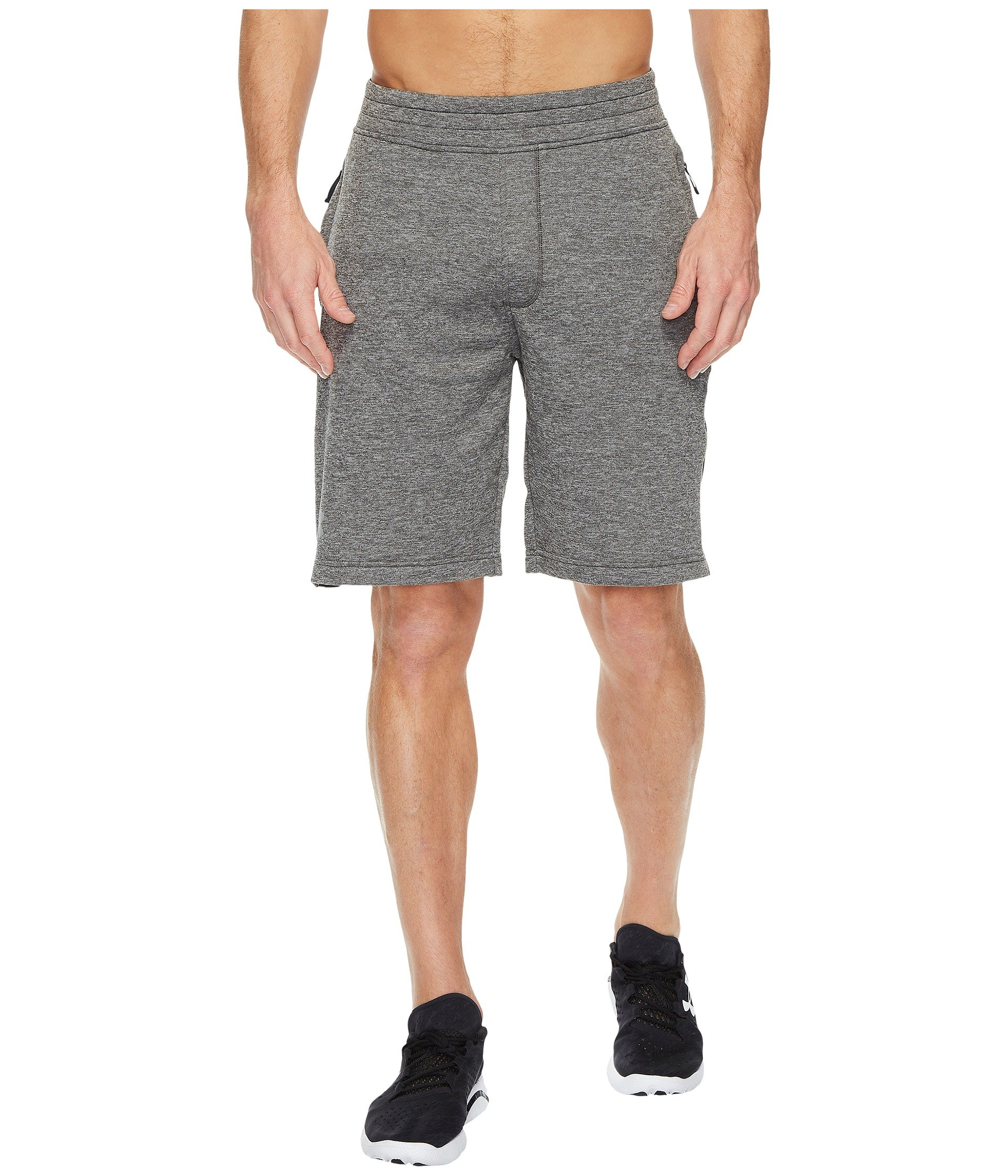 456aa82a Tech Terry Shorts, Carbon Heather/Black/Silver