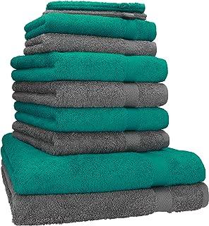 BETZ Lot de 8 Serviettes 6 Serviettes de Toilette 50x100 cm 2 Serviettes de Bain 70x140 cm 100/% Coton Palermo Couleur Rose et Vert