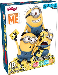 Fruity Snacks, Despicable Me, Assorted Fruit Flavored Snacks, Minion Made, Gluten Free, Fat Free, 8oz (10 Pouches)