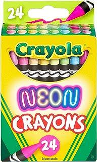 Crayola Neon Crayons, Back to School Supplies, 24Count