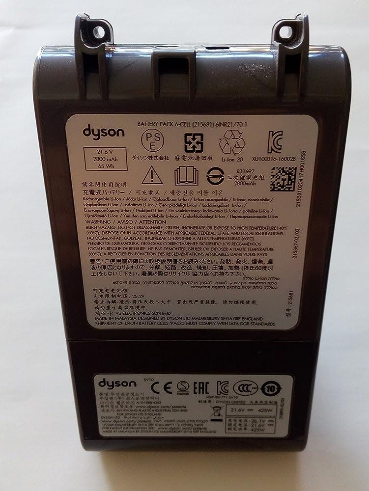 Batteria per aspirapolvere originale Dyson V8 SV10  21,6V 2800 mAh 65Wh 967834-02