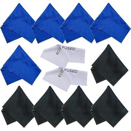 Chiffons de Nettoyage en Microfibre – 12 Paquet – Nettoyage Lunettes, Spectacles, objectifs d'appareils Photo, iPad, Tablet, Téléphones, iPhone, téléphones Android, Ordinateurs Portables, écrans LCD
