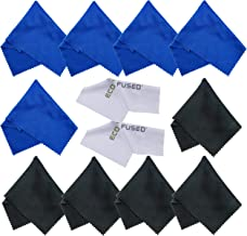 Eco-Fused Microfiber Cleaning Cloths for Use with Cell Phone, Tablets, Laptops, Glasses, Lenses and Other Delicate Surface...