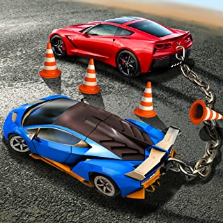 Chained Car Mega Stunts Racing: Super Speed Driving Simulator 2019