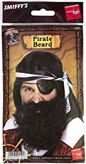 Smiffy's Pirate Beard Nylon Deluxe - Black