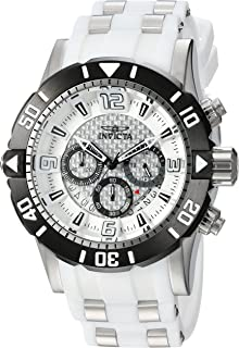 Invicta Men's Pro Diver Stainless Steel Quartz Diving Watch with Polyurethane Strap, Two Tone, 26 (Model: 23697)