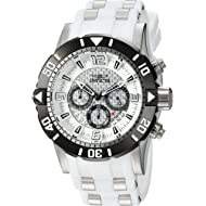 Invicta Men's Pro Diver Stainless Steel Quartz Diving Watch with Polyurethane Strap, Two Tone, 26...