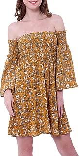NANFANGLI Women Summer Dress Off Shoulder Fit Comfy Floral Casual Dresses