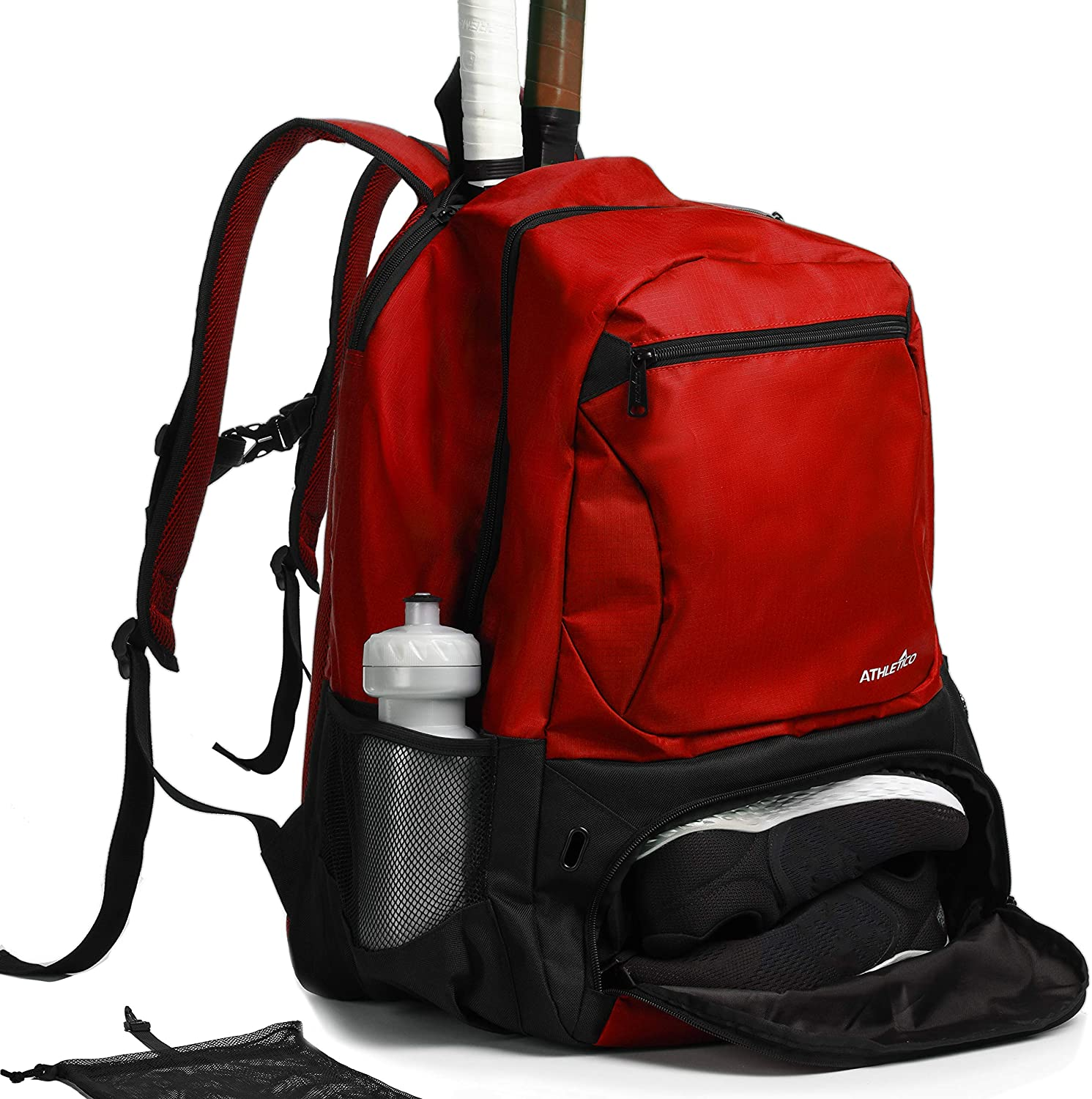 Limited time trial price Athletico Premier Tennis Backpack Inexpensive - Holds Rackets 2 Bag i