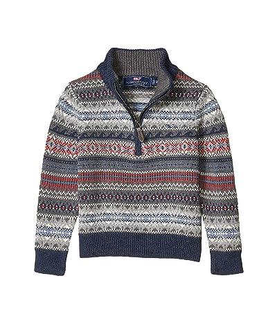 Vineyard Vines Kids Fair Isle Sweater (Toddler/Little Kids/Big Kids) (Evening Sky) Boy
