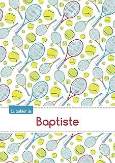 Le cahier de Baptiste - Séyès, 96p, A5 - Tennis