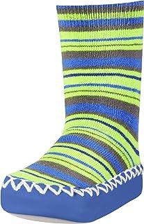Anti-Slip Cotton Socks Stripes Pantuflas Unisex Niños