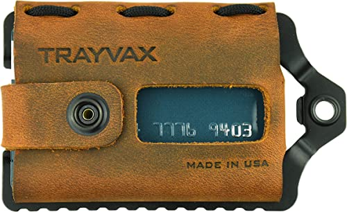 Trayvax Element Wallet (Black   Tobacco Brown Leather)