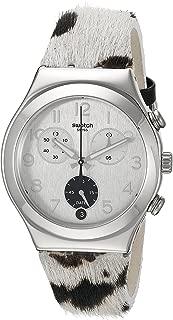 Swatch Women's YCS585 Muuu Year-Round Chronograph Quartz Beige Watch