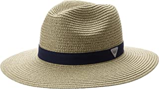 Columbia Sportswear Bonehead Straw Hat, Fossil/Collegiate Navy, Large/X-Large