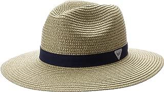 Columbia Sportswear Bonehead Straw Hat, Fossil/Collegiate Navy, Large/X-Large