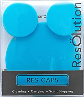 ResOlution Caps Universal Caps for Cleaning, Storage, and Odor Proofing Glass Water Pipes/Rigs and More - BLUE