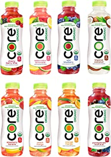 CORE Organic Fruit Infused Beverage 8 Flavor Variety Pack, 18 Fl Oz (Pack of 8)