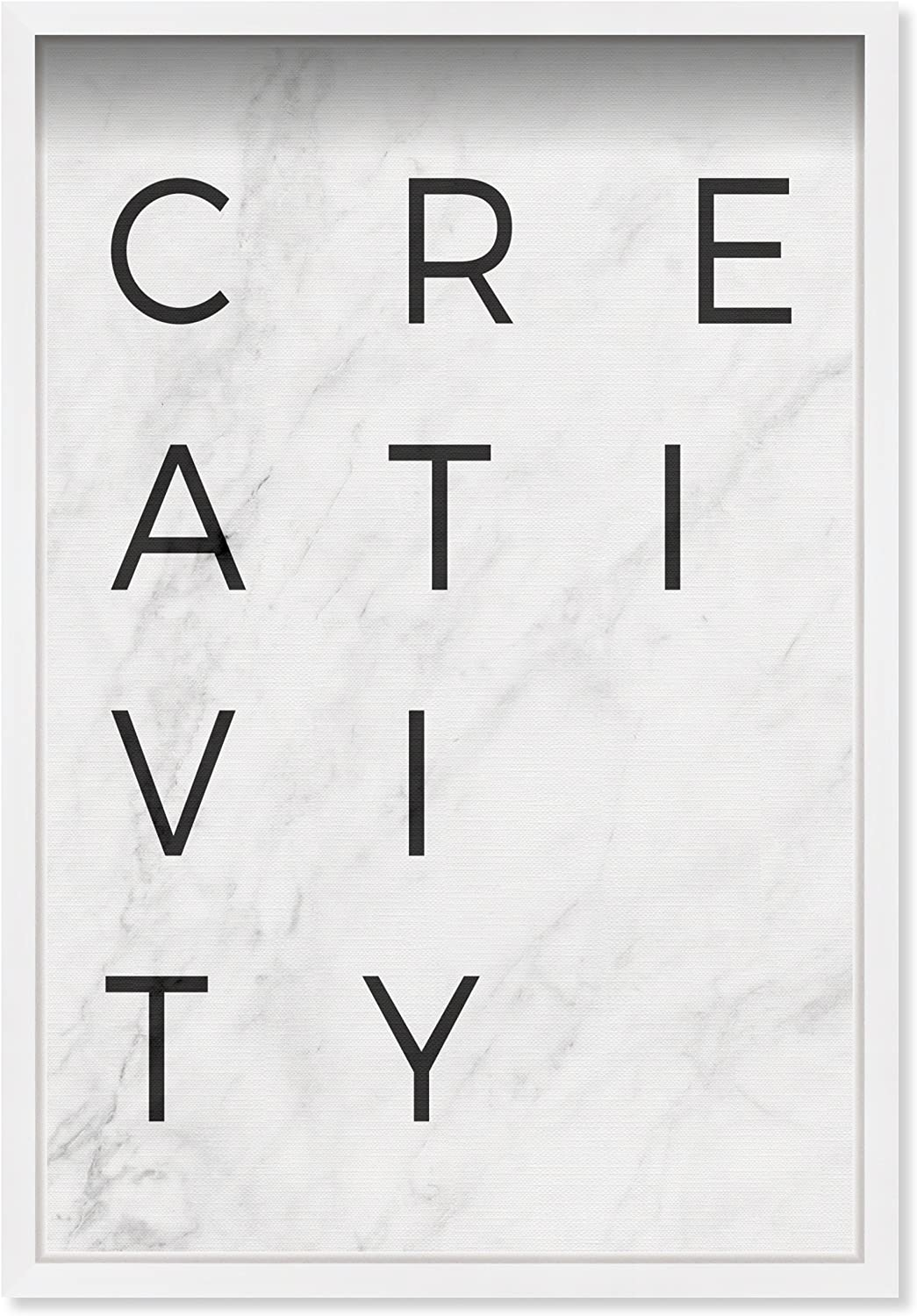 Amazon Com Oliver Gal Creativity Minimalist Marble Paper Contemporary Framed Wall Art Print For Home Decor 16 X 24 Home Kitchen