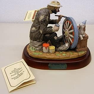 Flambro Emmett Kelly Jr EKJ The Finishing Touch Hand Signed LE Figurine #9873