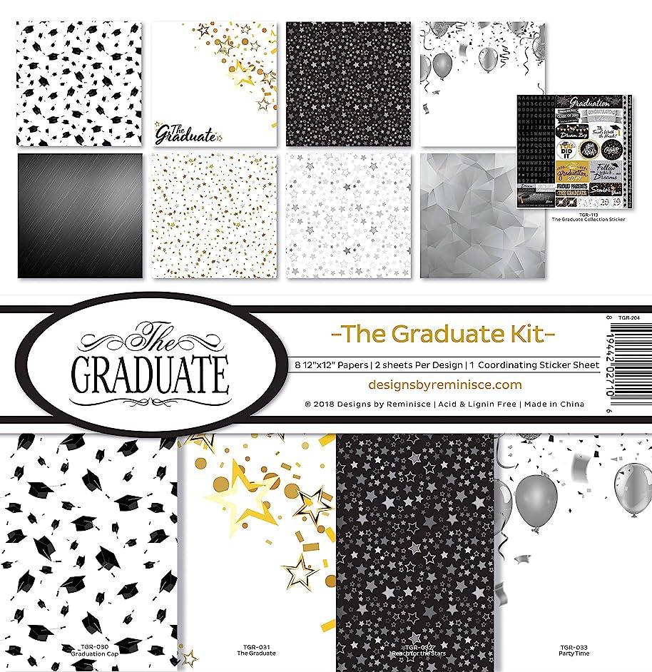 Reminisce (REMBC) TGR-204 The Graduate Scrapbook Collection Kit, Multi Color Palette