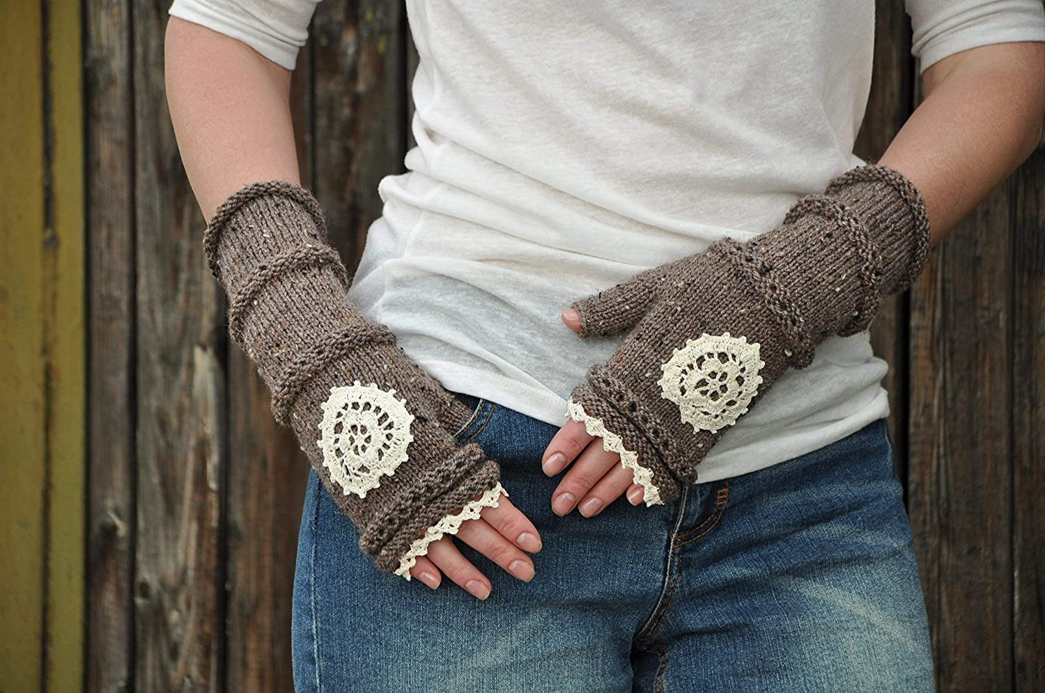 Women Girl Knitted Ranking TOP1 Soft Super Special SALE held Warmer Fingerless Thumb Mittens Gloves