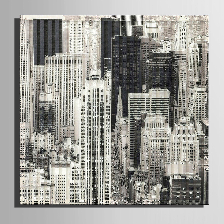 RUNDESHEBEI Y&M Leinwand-Kunst Grau-Stadt-BAU-Dekoration-Malerei, Frameless Malerei, 40  40  1 B071WK4BSG  | Zürich Online Shop