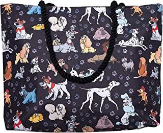 Disney Tote Travel Bag Dogs Print: 101 Dalmatians Lady Tramp Copper Dodger