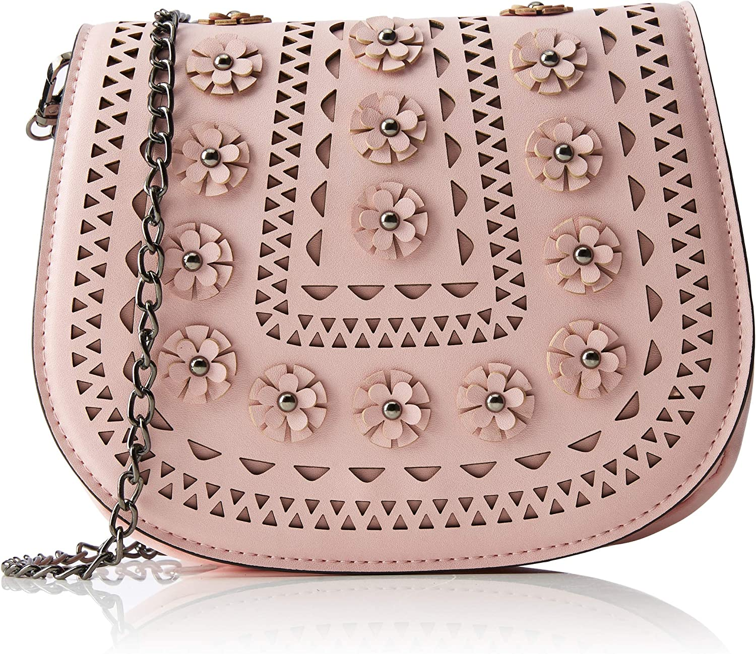 Joe Browns Womens Floral Cut Out Bag with 3D Flowers
