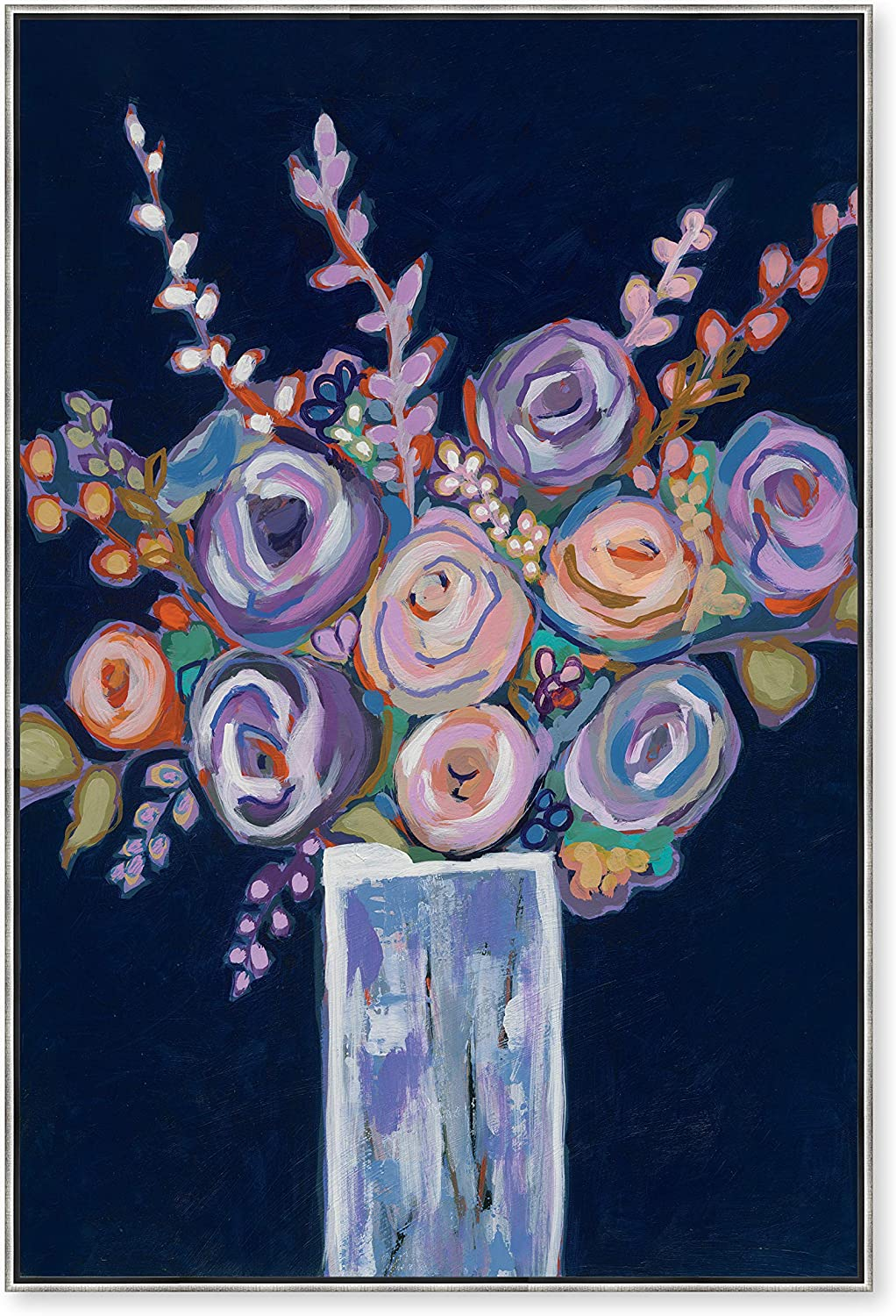 Artisan Home Colorful Flowers Max 62% OFF For Silver You Max 81% OFF Canvas Framed Pri