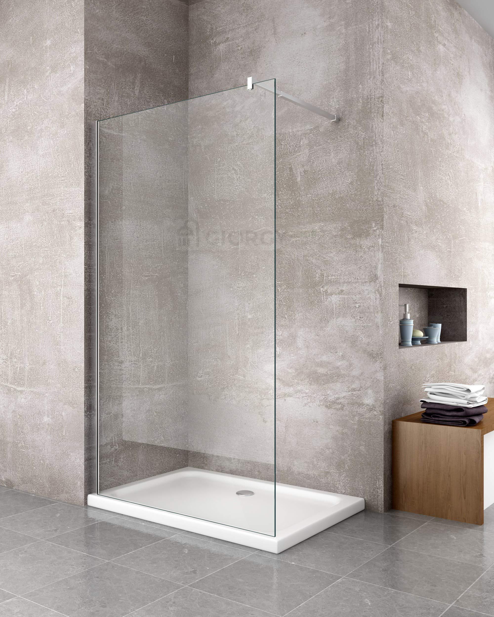 Pared de ducha fija, para modelo «Walk in», de cristal templado ...