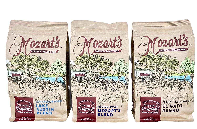 Mozart's Whole Bean Coffee Variety Washington Mall Cheap Light 3-Pack Lake Med Austin