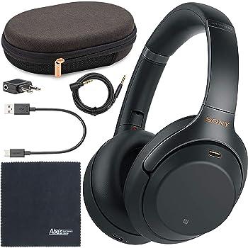Sony WH-1000XM3 Wireless Noise-Canceling Over-Ear Headphones (Black) WH1000XM3/B + AOM Bundle - International Version (1 Year AOM Warranty)