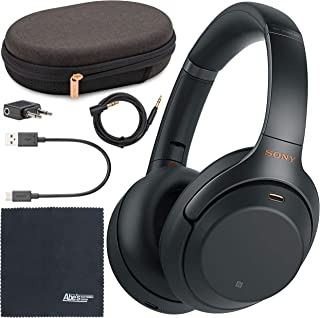 Sony WH-1000XM3 Wireless Noise-Canceling Over-Ear Headphones (Black) WH1000XM3/B + AOM Bundle - International Version (1 Y...