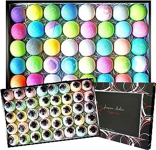 Lush Bath Bomb Gift Set - by Joanne Arden Organic Bath Bombs for Women, Men & Kids. Bulk Bath Bomb Kit Includes 40 Paraben...