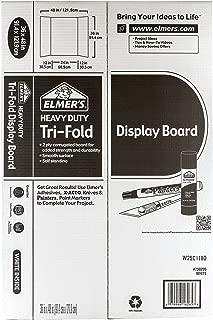 Elmers 730205 Project Board Display, Tri-Fold Board, 36 in.x48 in, White