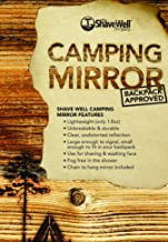 The Shave Well Company Unbreakable Camping Mirror Backpack Approved Hiking Mirror