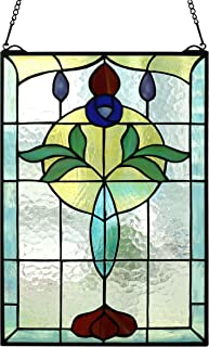 Yolic Tiffany Style Life Power Stained Glass Window Panel Hanging 20