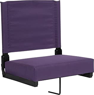 Flash Furniture Grandstand Comfort Seats by Flash with Ultra-Padded Seat in Dark Purple