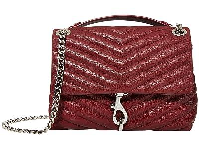 Rebecca Minkoff Edie Crossbody (Pinot Noir) Cross Body Handbags