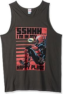 قميص رجالي بدون أكمام مطبوع عليه Happy Deadpool من Marvel Official