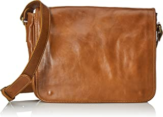 (Leather) - CTM Men's Organiser Bag, Bag MAC and PC to Work, 32.5x28x8cm, 100% Genuine Leather Made in Italy
