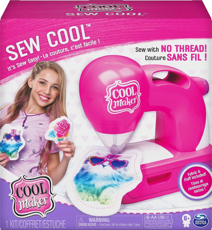 Cool Maker, Máquina de coser Cool con 5 proyectos de moda y tela, para niños de 6 años y más
